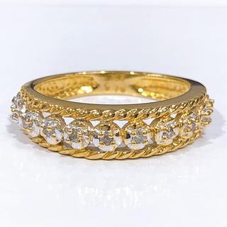 K18 K18WG ダイヤモンド リング(リング(指輪))