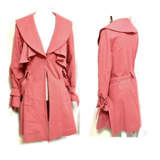 ミラオーウェン(Mila Owen)の新品 大きめサイズ ピンク 春色 春コート トレンチコート(トレンチコート)