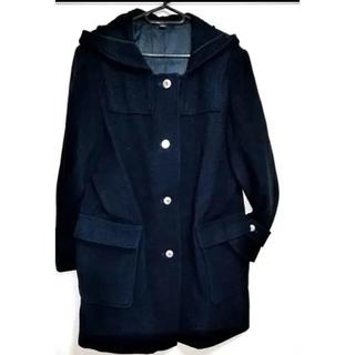 ハナエモリ(HANAE MORI)のモリハナエ 森英恵 Pコート ほぼ未使用 紺色コート☆日本製 ピーコート(ピーコート)