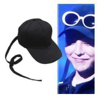 BIGBANG G-DRAGON着用帽子 ロングベルト クリップ付 黒(キャップ)