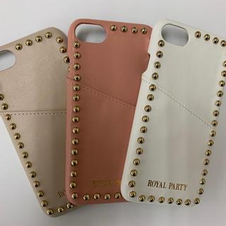 ロイヤルパーティー(ROYAL PARTY)のROYALPARTY スタッズ背面 iPhoneケース(iPhoneケース)