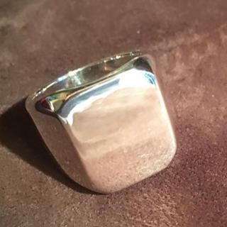 印台 シルバー925 リング  18号 ハンコ 重い 女性 スクエア銀指輪男性(リング(指輪))
