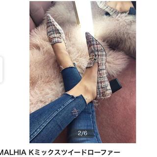 エイミーイストワール(eimy istoire)のMALHIA Kミックスツイードローファー  eimy istoire(ローファー/革靴)