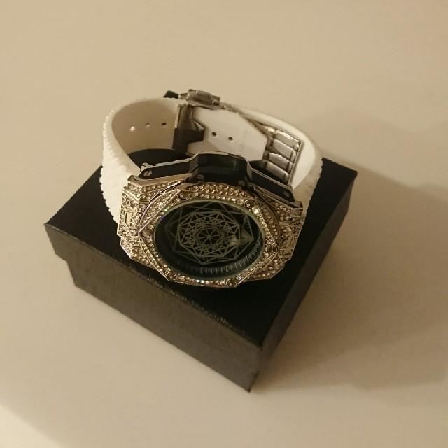 スーパーコピー 時計 見分け方 mhf - 高級感抜群 時計 ホワイトバンド カスタムの通販 by ロンパーマン's shop