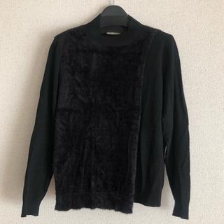 アーモワールカプリス(armoire caprice)のl'armoire de luxe ブラック 異素材ニット (ニット/セーター)