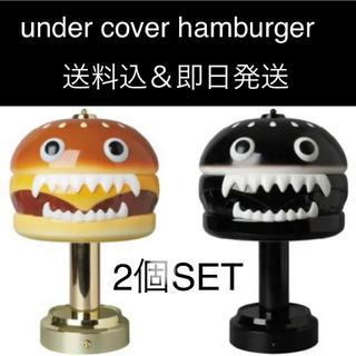 メディコムトイ(MEDICOM TOY)の2体 UNDERCOVER HAMBURGER LAMP ハンバーガー ランプ(その他)