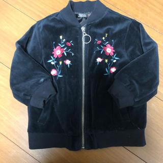 フタフタ(futafuta)の花柄刺繍ベロアMA-1(ジャケット/コート)