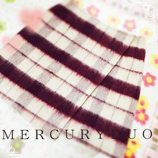 マーキュリーデュオ(MERCURYDUO)の今期♡シャギーチェックラップSK(ミニスカート)