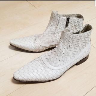 ボッテガヴェネタ(Bottega Veneta)のGAEN(ガエン)イントレチャートショートブーツ(ブーツ)