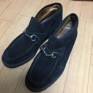 グッチ(Gucci)のGUCCI ホースビット スエードショートブーツ  黒(ブーツ)