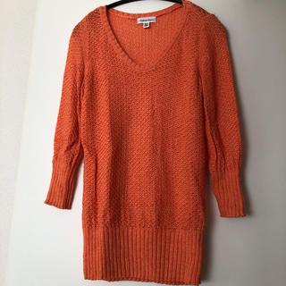 カルバンクライン(Calvin Klein)のカルバンクライン オレンジ セーター トップス(ニット/セーター)