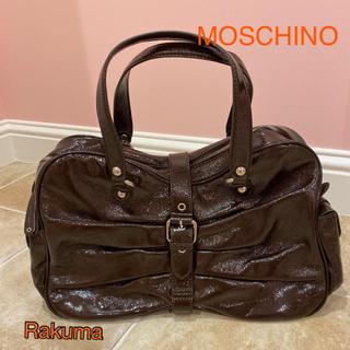 モスキーノ(MOSCHINO)のモスキーノ エナメルリボンバッグ 新品(ハンドバッグ)