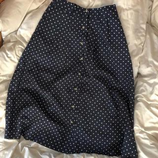 アメリカンホリック レトロドットスカート(ひざ丈スカート)