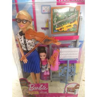 バービー(Barbie)のバービー 音楽の先生 バイオリン トランペット barbie (その他)