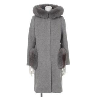 マイストラーダ(Mystrada)の新品タグ付き フード付きポケットファーコート(毛皮/ファーコート)