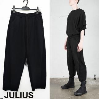 ユリウス(JULIUS)のJULIUS インサイドアウトシームドイージーパンツ 1 ブラック 2018FW(その他)