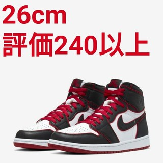 ナイキ(NIKE)のNIKE AIR JORDAN 1 HIGH OG BLACK/RED(スニーカー)