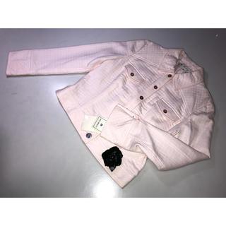 エムズグレイシー(M'S GRACY)の833エムズグレイシー◆ジャケット 上着 薄ピンク系 40号Lサイズ花コサージュ(その他)