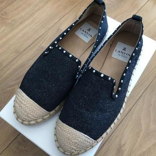 ランバンオンブルー(LANVIN en Bleu)のランバンオンブルー♡靴♡エスパドリーユ♡23cm(スリッポン/モカシン)