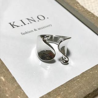 ウェーブモチーフ silver925 Plated デザインリング(リング(指輪))
