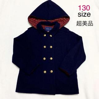 ファミリア(familiar)の【超美品】familiar コート 130 ファミリア赤チェック レトロ(コート)