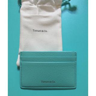 ティファニー(Tiffany & Co.)の新品☆ティファニー カードケース ティファニーブルー(名刺入れ/定期入れ)