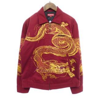 シュプリーム(Supreme)のsupreme/18aw/dragon work jacket/red(カバーオール)