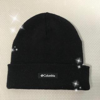 コロンビア(Columbia)の美品❤︎Columbia ニット帽 黒(ニット帽/ビーニー)