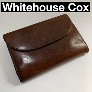 ホワイトハウスコックス(WHITEHOUSE COX)のWhitehouse Cox 財布 ダークブラウン(折り財布)