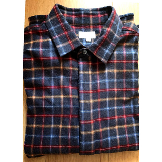 Drawer - ドゥロワー   drawer  チェックシャツ ブラック グレー 秋冬