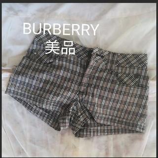 バーバリーブルーレーベル(BURBERRY BLUE LABEL)のBURBERRYBLUELABEL ショートパンツ 美品(ショートパンツ)