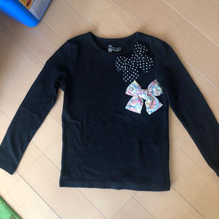 Seraph - TORIDORY リボン長袖Tシャツ 黒 130