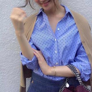 ザラ(ZARA)の【美品】ZARA ブルー シャツ(シャツ/ブラウス(長袖/七分))