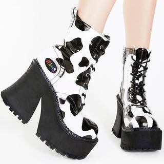 OPENING CEREMONY - 激かわいい♡キムヒョナ着用♡アメリカ購入  厚底 ブーツ ホルスタイン 新品