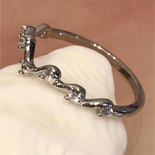 アクセサリー ファッションピンキーリング シルバー×ジルコニア(リング(指輪))