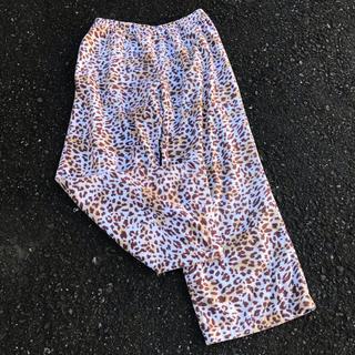 パナマボーイ(PANAMA BOY)のused 古着屋 ヒョウ柄 パジャマパンツ グラデーション(カジュアルパンツ)