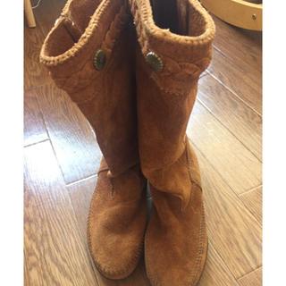 ミネトンカ(Minnetonka)のミネトンカ ブーツ 使用頻度少  (ブーツ)