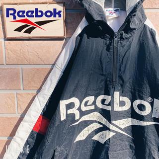 リーボック(Reebok)の【オススメ!!】90s リーボック ナイロンパーカー デカロゴ トリコロール(ナイロンジャケット)