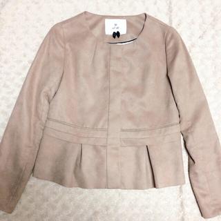 エフデ(ef-de)の北川景子着用♡スエード♡ジャケット(ノーカラージャケット)