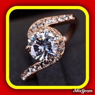 スワロフスキー(SWAROVSKI)の✨定価7800円✨★SWAROVSKI★指輪 K18金RGP ジェム リング(リング(指輪))