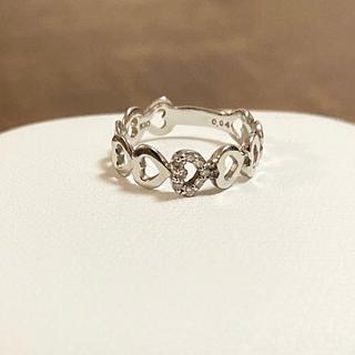 スタージュエリー(STAR JEWELRY)のk10 ハート エタニティ ダイヤモンド ピンキーリング(リング(指輪))