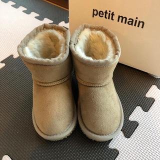 プティマイン(petit main)のプティマイン ムートンブーツ 新品(ブーツ)
