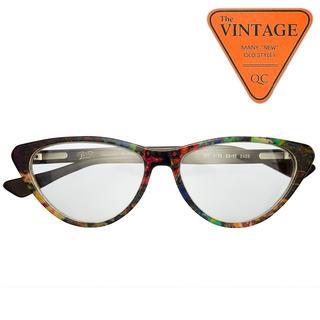 美品未使用 ドイツ ビンテージメガネ ハンドメイド フレーム 天然水牛角マーブル(サングラス/メガネ)
