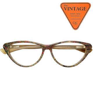 上品でお洒落なドイツ製 未使用 ビンテージメガネハンドメイド フレーム マーブル(サングラス/メガネ)