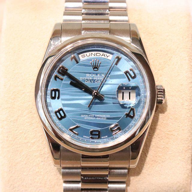タグ ホイヤー カレラ ブラック - ROLEX - ロレックス デイデイト ホワイトゴールド 118239 Z番 メンズ ブルーの通販 by エル's shop
