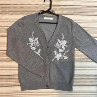 ココディール(COCO DEAL)のcocodeal  刺繍カーディガン(カーディガン)