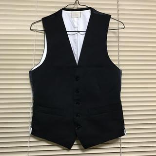 ジレ スーツ ベスト ブラック シングル