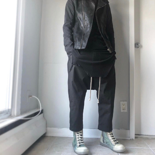 Rick Owens - Rick Owens 48 S TE素材 クロップド サルエル 8分丈