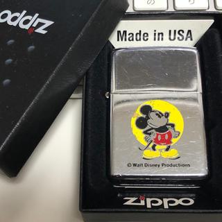ジッポー(ZIPPO)のZippo/ジッポ/ライター/ミッキー/ディズニー/1974年/斜体/イタリック(タバコグッズ)