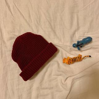 ニコアンド(niko and...)のニット帽(ダークレッド)(ニット帽/ビーニー)